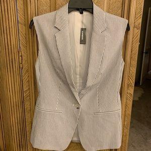 NWT -Express sleeveless pinstriped suit Jacket